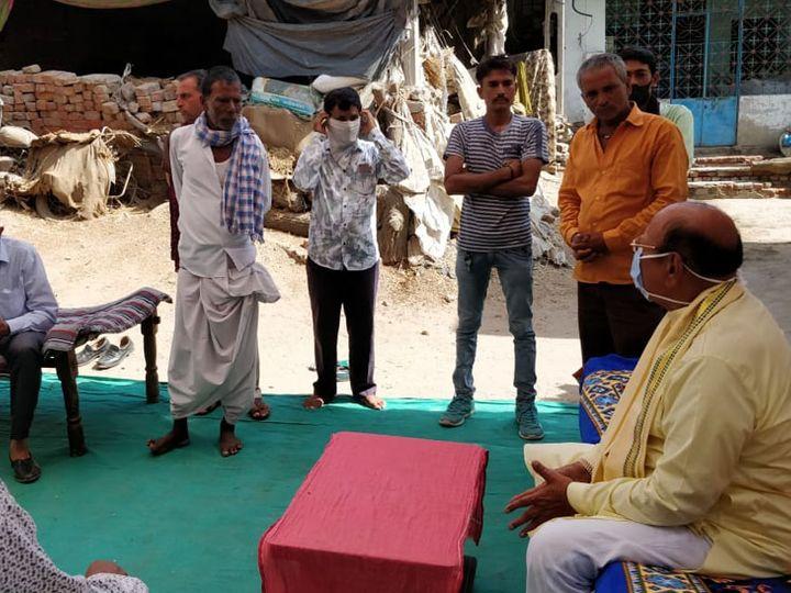 શંકરસિંહ વાઘેલાએ ખેડૂતો સાથે તેમને લગતા પ્રશ્નોની ચર્ચા કરી હતી - Divya Bhaskar