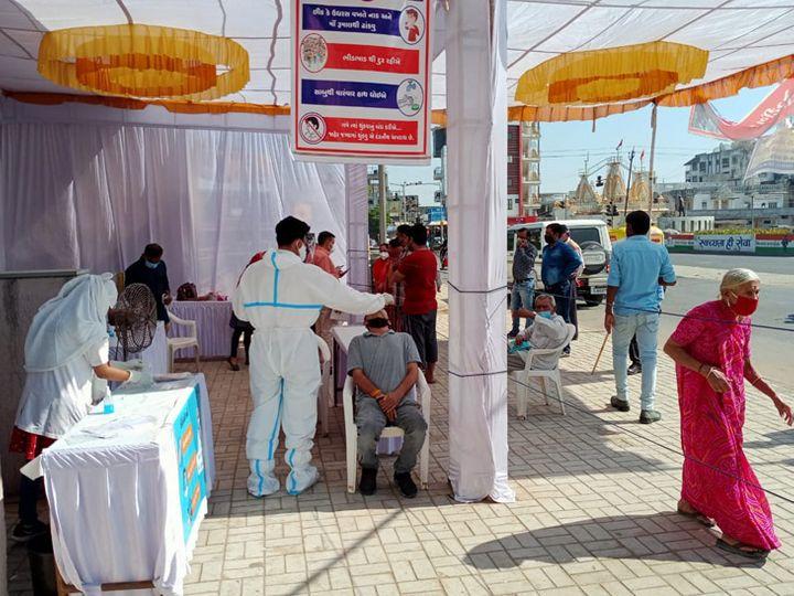 હિંમતનગર કેનાલ ફ્રન્ટ પર 142 જણાએ રેપીડ ટેસ્ટ કરાવ્યો, 5 પોઝિટિવ - Divya Bhaskar