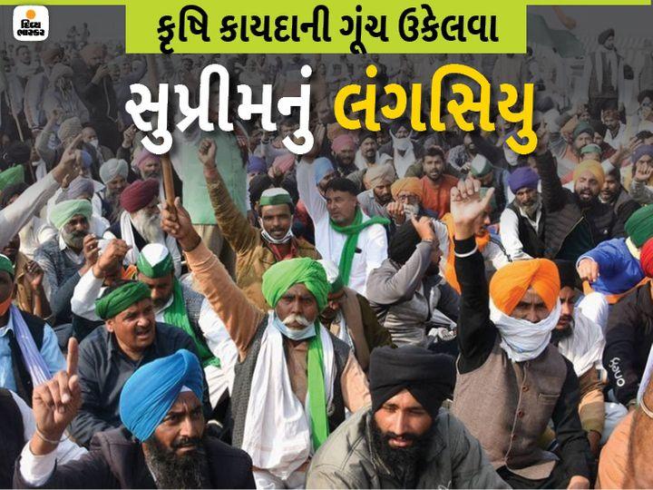 કૃષિ કાયદા વિરુદ્ધ ખેડૂતો 26 નવેમ્બરથી દિલ્હી સીમા પર આંદોલન કરી રહ્યા છે. - Divya Bhaskar