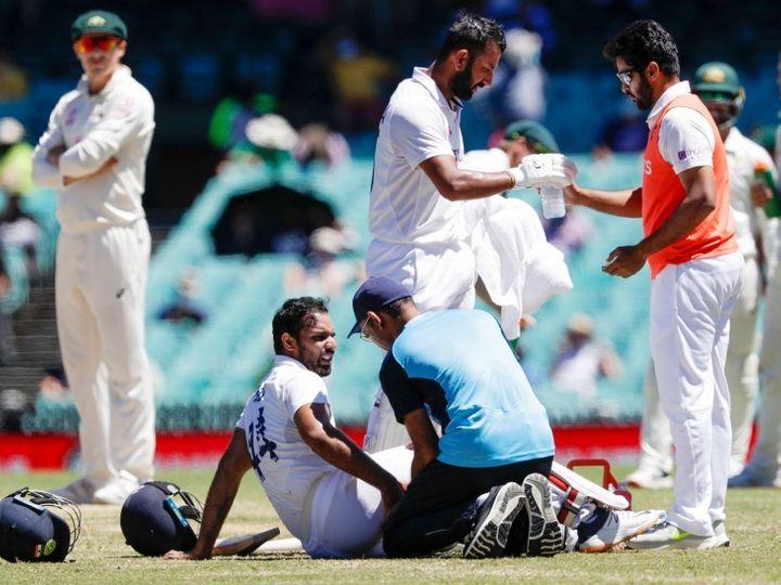 ઓસ્ટ્રેલિયન પ્રવાસ પર ટેસ્ટ સિરીઝ દરમિયાન 9 ભારતીય ખેલાડી ઈજાગ્રસ્ત થયા. સિડનીમાં રમાયેલી ત્રીજી ટેસ્ટ દરમિયાન હનુમા વિહારીને હેમસ્ટ્રિંગની ઈજા થઈ હતી. - Divya Bhaskar