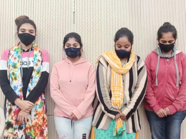 રાજકોટ ક્રાઇમ બ્રાન્ચે ચાર યુવતી સહિત 7 શખ્સની ધરપકડ કરી - Divya Bhaskar