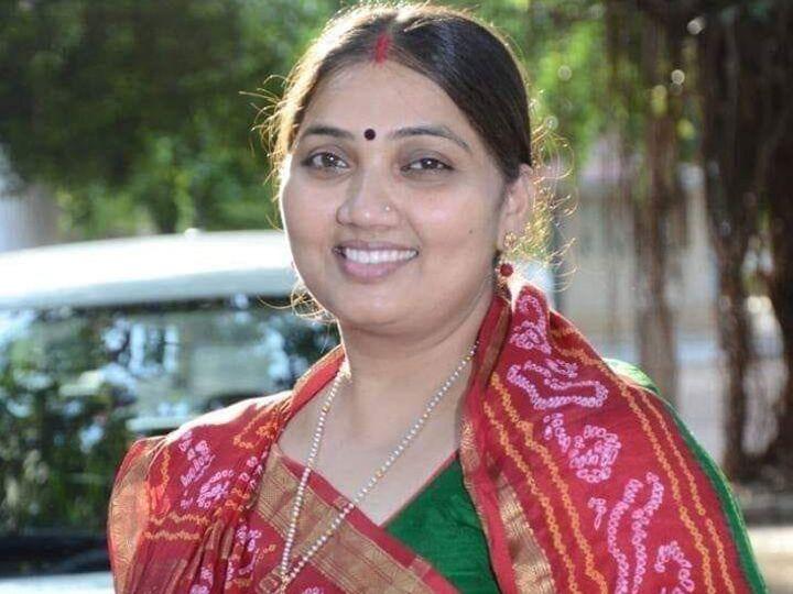 રાજકોટ મનપાની ચૂંટણીમાં ભાજપનાં મહિલા ઉમેદવાર ભાનુબેન બાબરિયા. - Divya Bhaskar