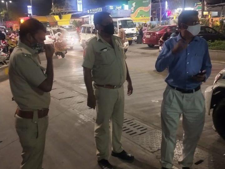 મહાનગરપાલિકાના અધિકારીઓએ સરપ્રાઇઝ ચેકિંગ કરી કાર્યવાહી હાથ ધરી હતી - Divya Bhaskar
