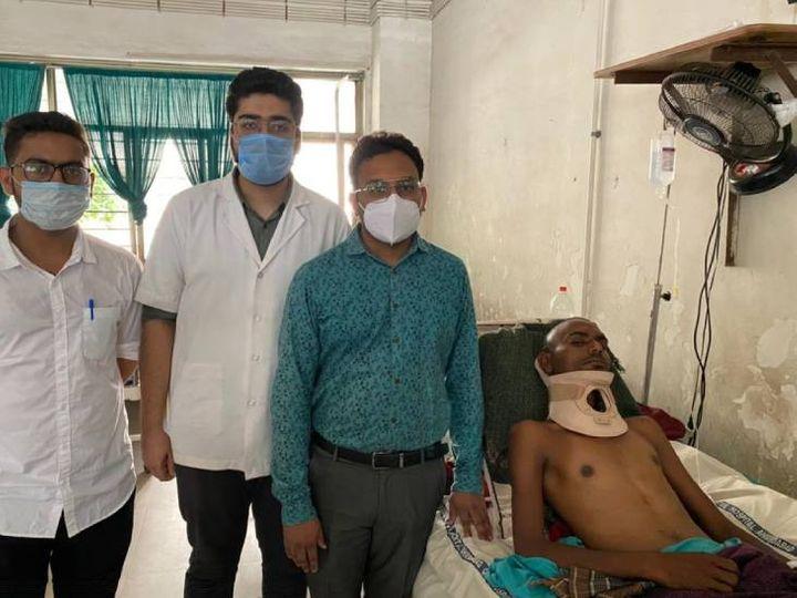 સુરેશલાલના પાડોશી ભીમલાલ જણાવે છે કે સિવિલ હોસ્પિટલના કારણે સુરેશલાલ ગંભીર પીડામાંથી મુક્ત થયા - Divya Bhaskar