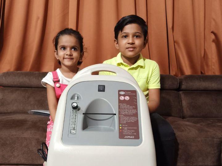 બાળકોએ કોરોનાની ત્રીજી લહેરમાં ગંભીર પરિસ્થિતિ સર્જાય તો સેવામાં ઉપયોગ થાય તે માટે ઓક્સિજન મશીન લીધું છે. - Divya Bhaskar
