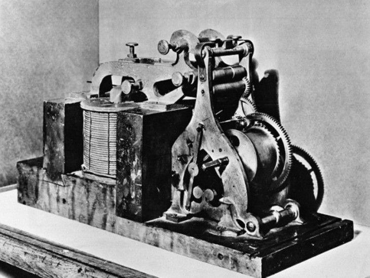 टेलीग्राम मशीन।