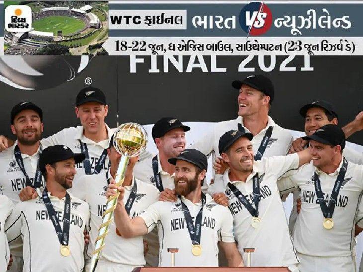કેન વિલિયમ્સનની ટીમે ફર્સ્ટ ICC વર્લ્ડ ટેસ્ટ ચેમ્પિયનશિપનું ટાઇટલ જીત્યું છે.