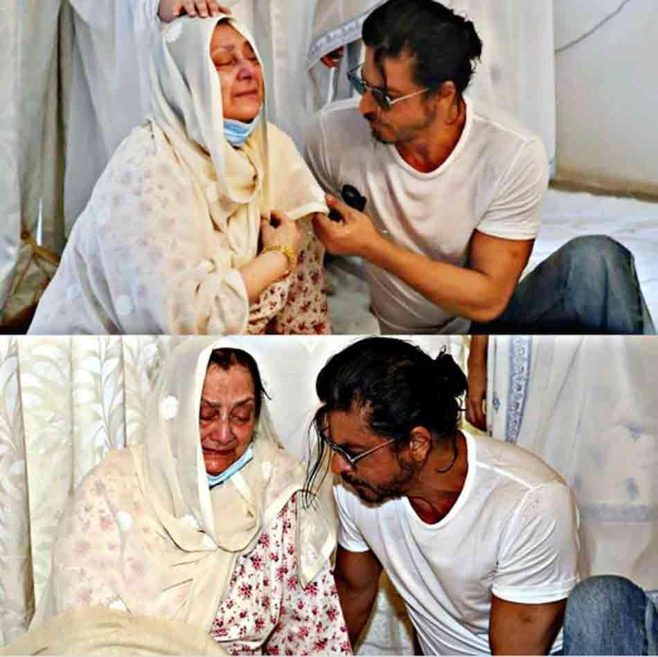 शाहरुख खान ने की सायरा को शांत करने की कोशिश