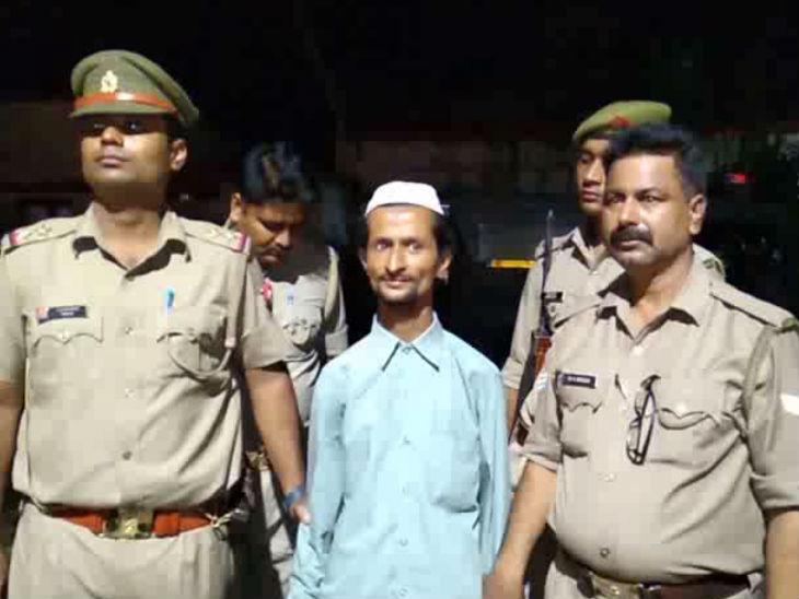 पुलिस की गिरफ्त में आरोपी। - Dainik Bhaskar
