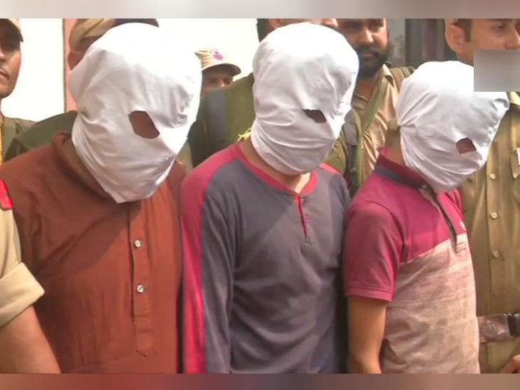 गिरफ्तार किए गए आतंकी। - Dainik Bhaskar