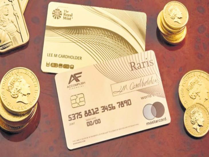 दुनिया में पहली बार 18 कैरेट सोने का एटीएम कार्ड बनाया, इसकी कीमत 14 लाख रुपए  - Dainik Bhaskar