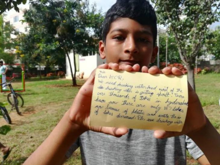 बच्चों ने मुख्यमंत्री को पोस्ट कार्ड भेजे, लिखा- डियर केसीआर अंकल, हमें पानी चाहिए  - Dainik Bhaskar