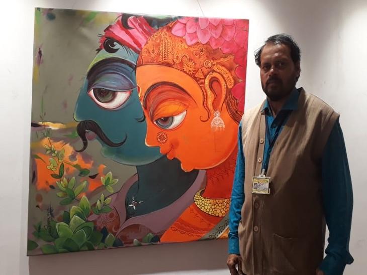 कर्नाटक सरकार के डिपार्टमेंट ऑफ कन्नड़ एंड कल्चर के सहयोग से आयोजित इस प्रदर्शनी में मंजुनाथ माने के 12 चित्र प्रदर्शित हैं।