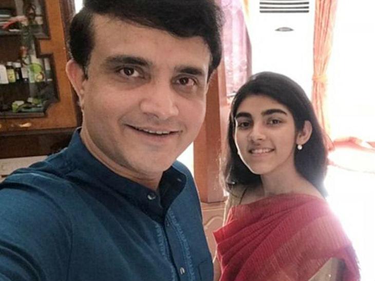 बेटी सना के साथ सौरव गांगुली। (फाइल फोटो) - Dainik Bhaskar