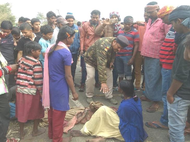 अलग-अलग सड़क दुर्घटना में दो बच्चों की मौत, मुआवजे की मांग को लेकर सड़क जाम|धनबाद,Dhanbad - Dainik Bhaskar