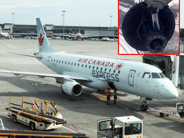 जेज एविएशन के मुताबिक, घटना के कारणों का पता लगाने मॉन्ट्रियल में रखरखाव कर्मी विमान की गहन जांच कर रहे हैं। - Dainik Bhaskar