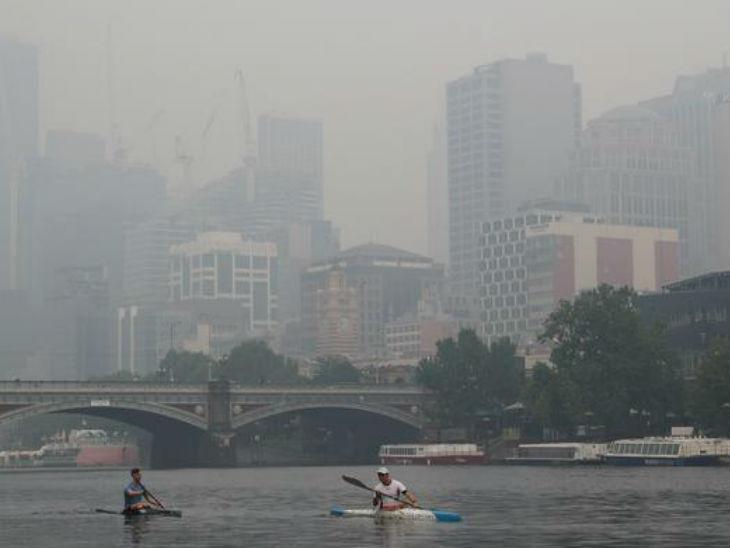 जंगल में लगी आग के कारण हवा जहरीली हुई, ऑस्ट्रेलियन ओपन के प्रैक्टिस मैच अस्थाई तौर पर रद्द स्पोर्ट्स,Sports - Dainik Bhaskar