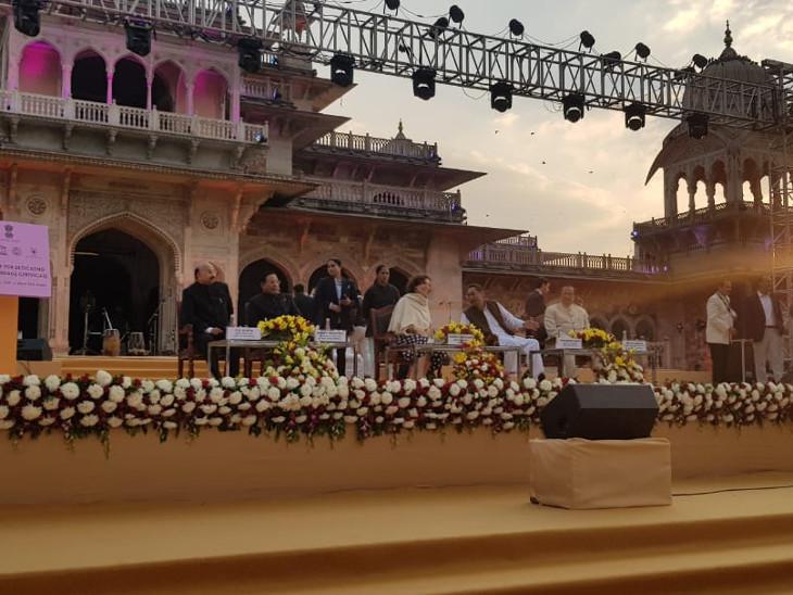 यूनेस्को की डीजी आन्द्रे अजोले ने दिया वर्ल्ड हेरिटेज सिटी का प्रमाण पत्र, बोलीं जयपुर सही मायने में यूनेस्को सिटी|जयपुर,Jaipur - Dainik Bhaskar