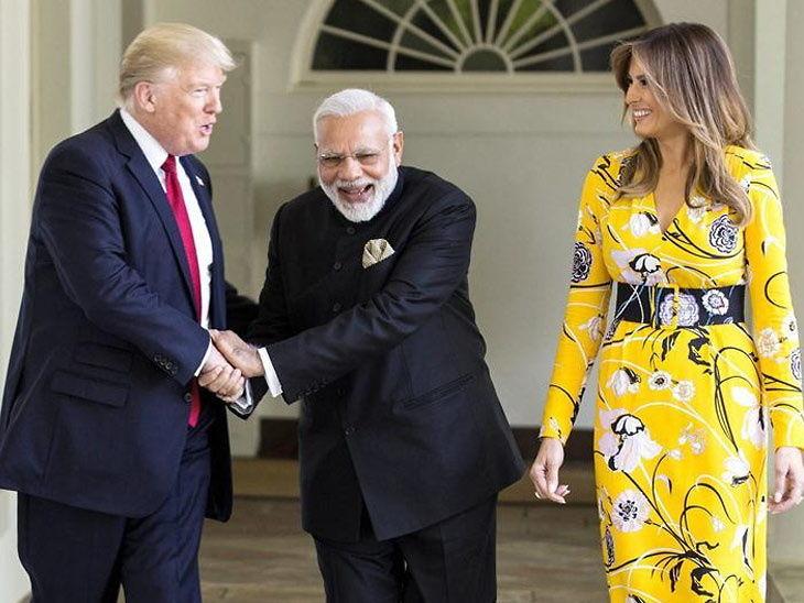 अमेरिकी राष्ट्रपति डोनाल्ड ट्रम्प, पीएम नरेंद्र मोदी का रोड शो 13 कि.मी. लम्बा होगा|गुजरात,Gujarat - Dainik Bhaskar