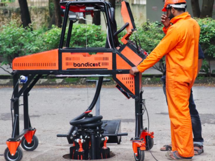 राज्य में पहली बार सूरत शहर में रोबोट से होगी सीवर की सफाई, यहां इस काम में 5 साल में 20 लोगों की जान गई  - Dainik Bhaskar