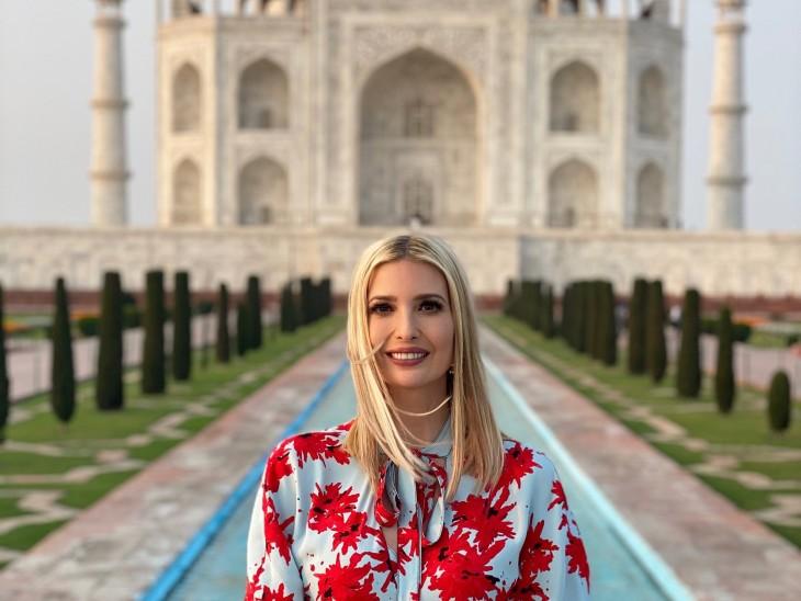 फोटो पोस्ट करते ही ट्रेंड करने लगीं इवांका, यूजर्स बोले- ताजमहल से भी खूबसूरत दिखती हैं ट्रम्प की बेटी|देश,National - Dainik Bhaskar