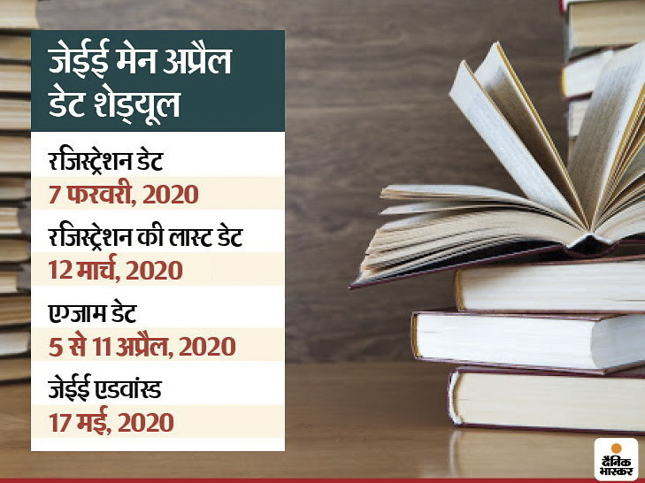 जेईई मेन अप्रैल परीक्षा की रजिस्ट्रेशन डेट आगे बढ़ी, अब 12 मार्च तक कर सकेंगे अप्लाय करिअर,Career - Dainik Bhaskar