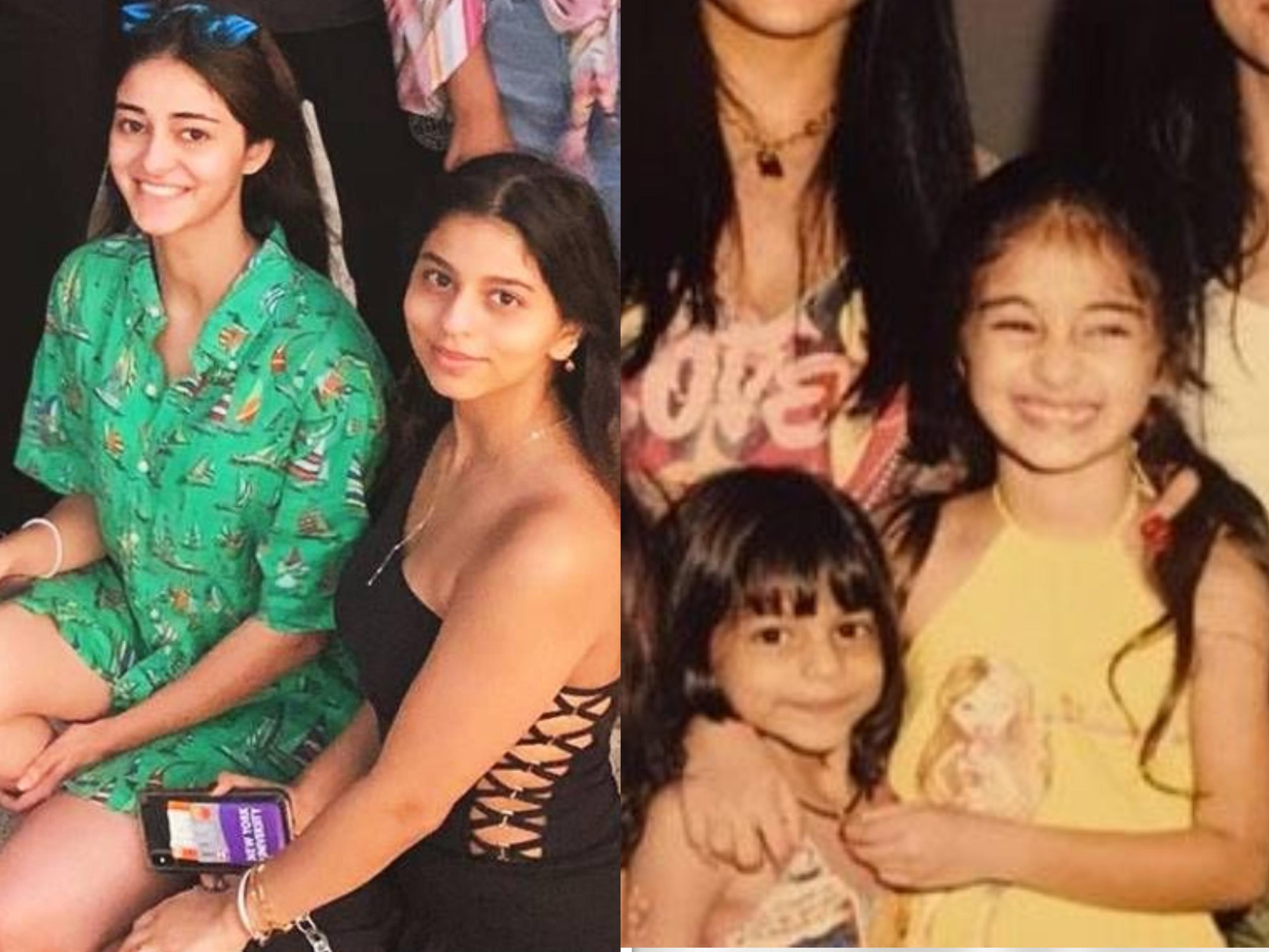 अनन्या ने शेयर की सुहाना के साथ बचपन की तस्वीरें|बॉलीवुड,Bollywood - Dainik Bhaskar