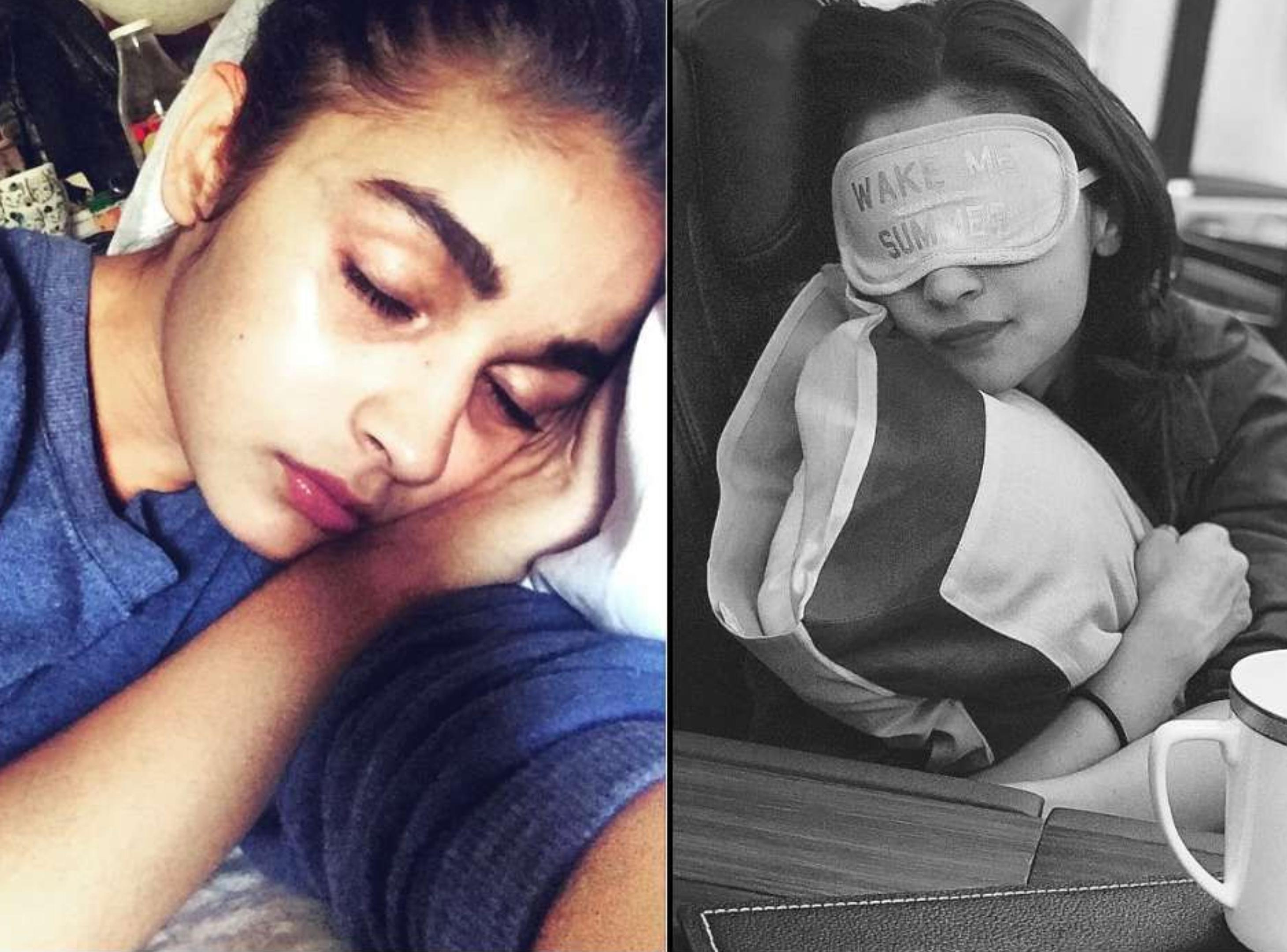 आलिया भट्ट की कुछ तस्वीरें सोशल मीडिया पर काफी वायरल हो रही हैं जिनमें वो सोती हुई नजर आ रही हैं। इन तस्वीरों को देखकर अंदाजा लगाया जा सकता है कि आलिया को सोना कितना पसंद है।