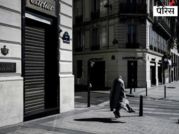 आमतौर पर पर्यटकों और लोगों से गुलजार रहने वाला पेरिस का प्रसिद्ध एवेन्यू, चैंप्स-एलिसे, इन दिनों सुनसान है।