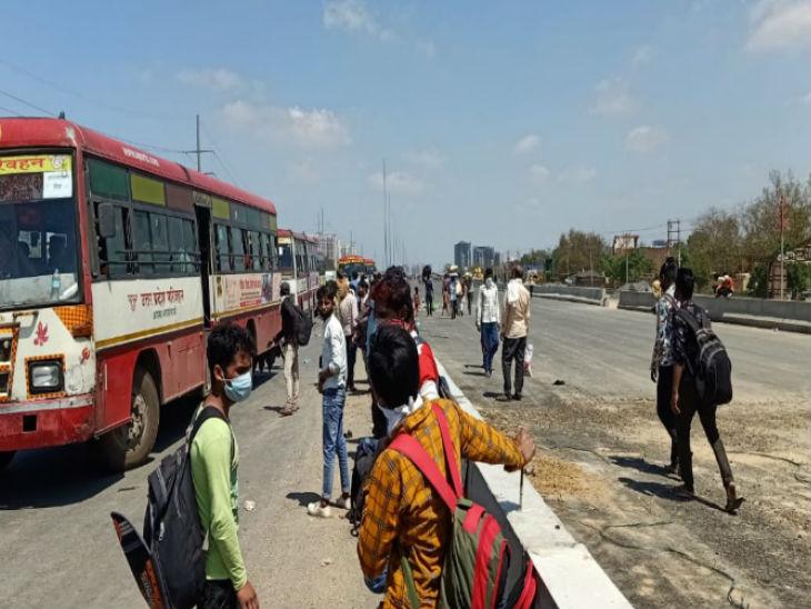 मेरठ में पलायन कर रहे लोगों पर प्रशासन की नजर, एडीजी ने कहा- दिल्ली यूपी बार्डर पर मौजूद लोगों की हर संभव मदद की कोशिश|मेरठ,Meerut - Dainik Bhaskar