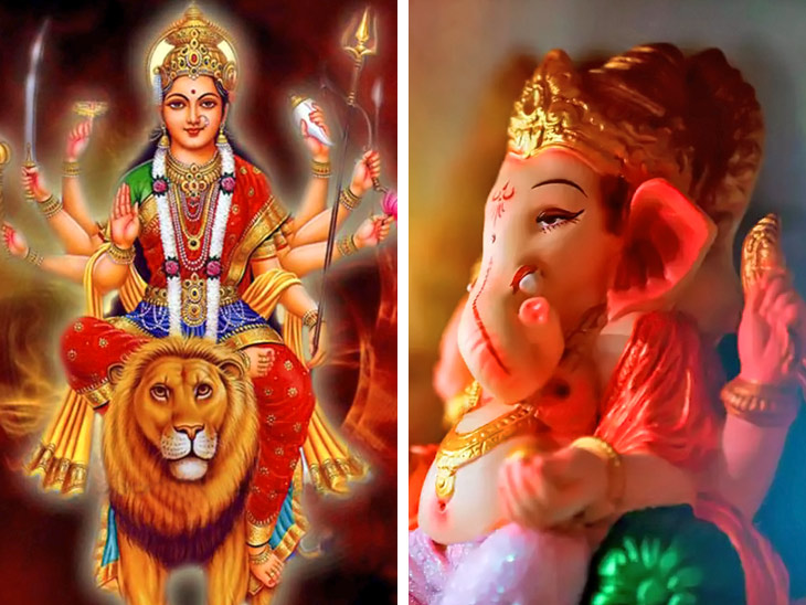 चैत्र नवरात्रि की अष्टमी और बुधवार का योग 1 अप्रैल को, दुर्गाजी के साथ करें गणेश पूजा भी|धर्म,Dharm - Dainik Bhaskar