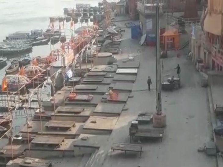 वाराणसी में घाटों पर पसरा सन्नाटा, 5 हजार से ज्यादा परिवारों के सामने रोजी रोटी का संकट|वाराणसी,Varanasi - Dainik Bhaskar