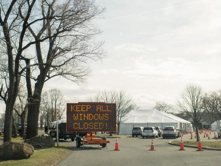 न्यूयॉर्क में ग्लेन आईलैंड। यहां टेस्टिंग सुविधा केंद्र बनाया गया है।