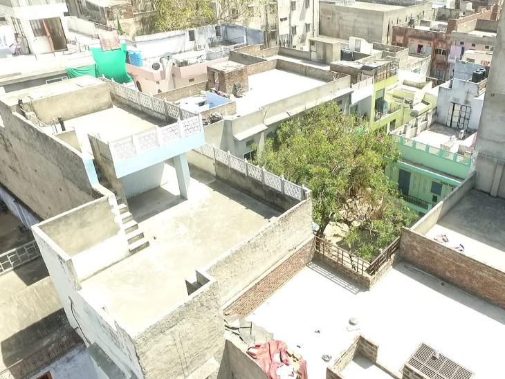 पूरे रामगंज क्षेत्र की ड्रोन से की जा रही निगरानी।
