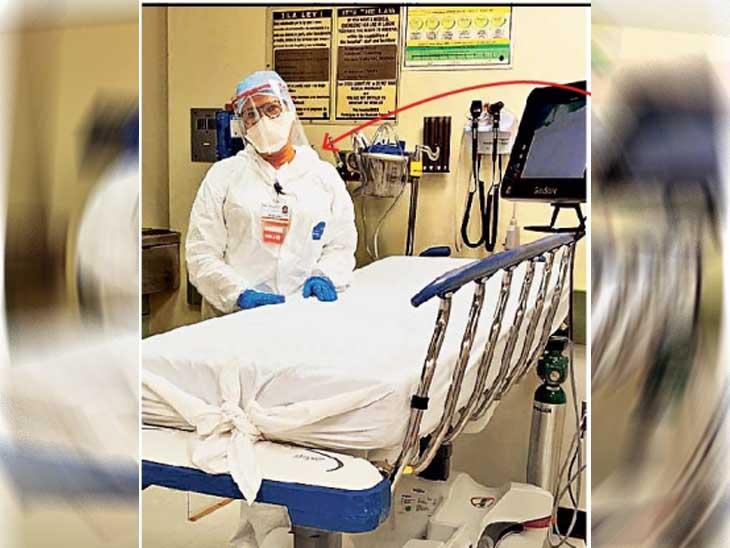 अमेरिका के अस्पताल में कोरोना पीड़ितों को इलाज कर रही मोना मिल्खा सिंह। मिल्खा सिंह ने कहा बेटी पर गर्व। - Dainik Bhaskar
