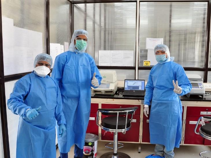यह तस्वीर नांदेड़ की है। यहां कोरोना जांच के लिए लैब को बनाया गया है। बुधवार को इस लैब में जांच हुई तो नांदेड़ में संक्रमण का पहला मामला सामने आया है।