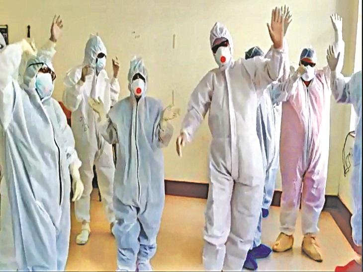 'हम हिंदुस्तानी' गाने पर डांस करते हुए जोधपुर के कोरोना योद्धाओं की यह टीम जुट जाती है मरीजों की सेवा में जोधपुर,Jodhpur - Dainik Bhaskar