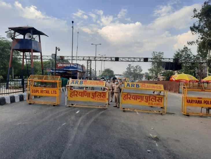 सोनीपत में पुलिस ने दिल्ली से लगने वाली सीमाओं को सील कर दिया है। इस वजह से दिल्ली आने-जाने वालों की एंट्री बंद कर दी गई है।
