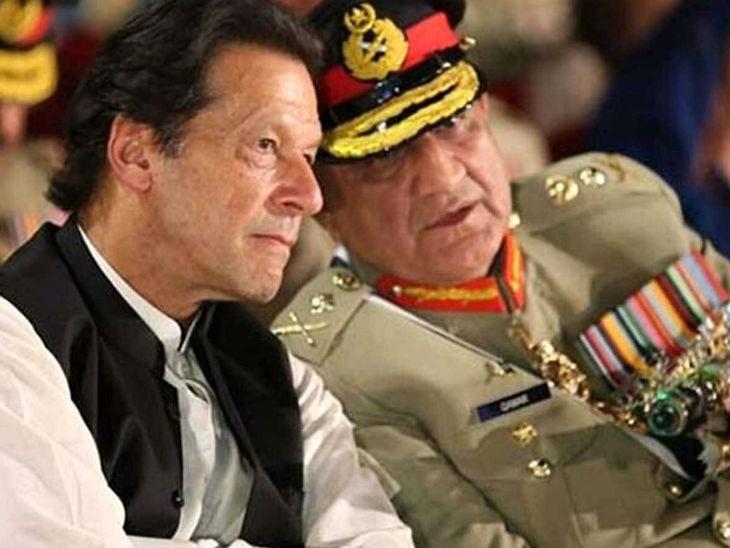 पाकिस्तान के प्रधानमंत्री इमरान खान और सेना प्रमुख कमर जावेद बाजवा। (फाइल) - Dainik Bhaskar