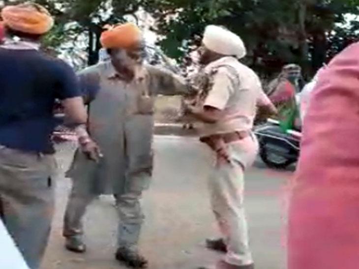 कस्बा खालड़ा के नारली गांव को जाते रोड के चौक पर बिना परमिशन घूम रहे लोग विवाद पर उतर आए। हालांकि, उनका आरोप है कि एएसआई ने एक व्यक्ति की दाढ़ी पकड़कर खींच ली, हाथापाई में वह गिर गया।