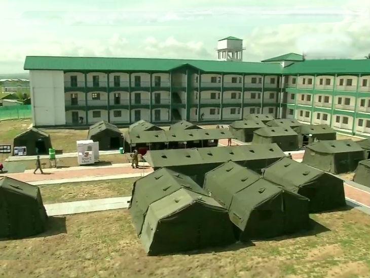 जम्मू-कश्मीर में सेना ने बड़गाम में कोविड-19 के मरीजों के लिए हेल्थ सेंटर तैयार किया है। इसमें 250 मरीजों को रखा जा सकता है।