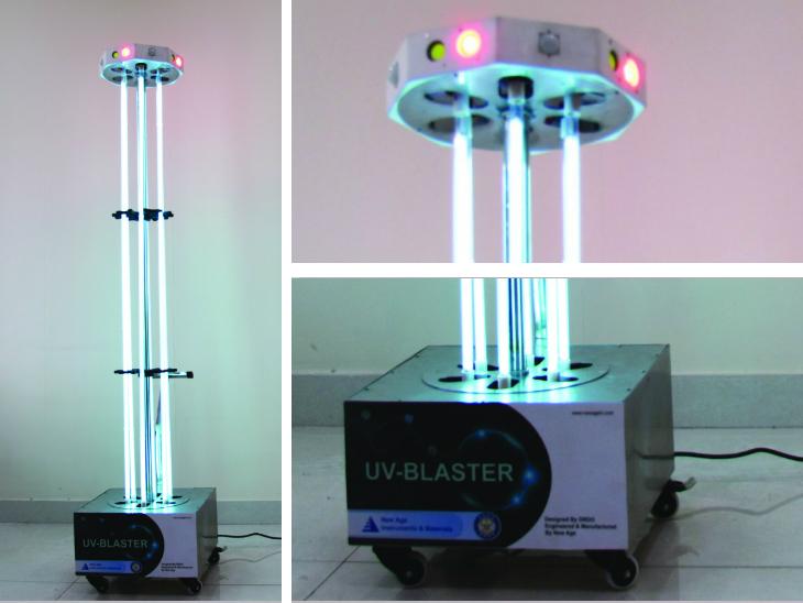 डीआरडीओ ने बनाया कोरोनावायरस को मारने वाला यूवी ब्लास्टर टॉवर, यह बिना केमिकल के सैनेटाइज करेगा होटल, मॉल और एयरपोर्ट|लाइफ & साइंस,Happy Life - Dainik Bhaskar