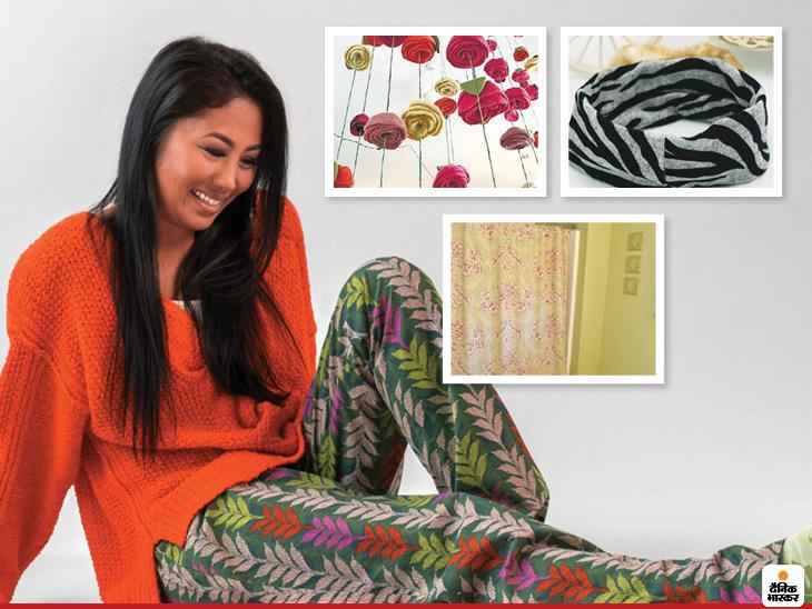 घर में रखी बेड शीट्स से बनाएं कई नई चीजें, पजामा बना लें या इससे हेडबैंड्स तैयार करें लाइफस्टाइल,Lifestyle - Dainik Bhaskar