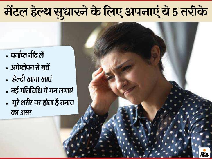 कोरोना ने मानसिक स्वास्थ को बुरी तरह से प्रभावित किया है, ऐसे में मेंटल हेल्थ सुधारने के लिए अपनाएं ये 5 तरीके वुमन,Women - Dainik Bhaskar