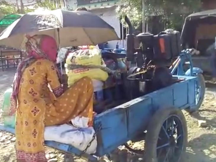 यह तस्वीर उदयपुर की है। यहां एक प्रवासी मजदूर को जब कोई सहारा नहीं मिला तो उसने जुगाड़ की गाड़ी बनाई। गाड़ी पर सारा सामान लादा और घर के लिए निकल पड़ा।