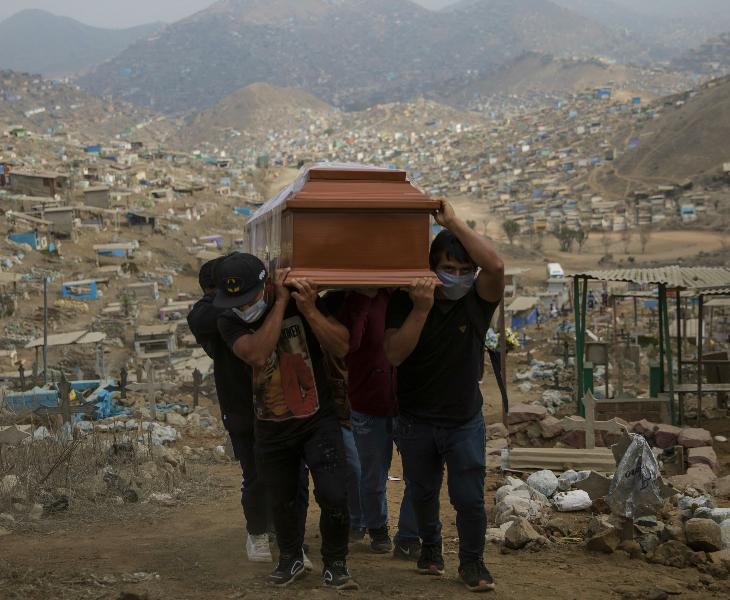पेरू में गुरुवार को 137 लोगों की मौत हुई। यहां अब मरने वालों का आंकड़ा 5 हजार 031 हो गया है।