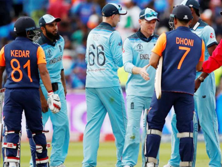 वर्ल्ड कप 2019 में इंग्लैंड के खिलाफ धोनी 42 और केदार जाधव 12 रन बनाकर नाबाद रहे थे