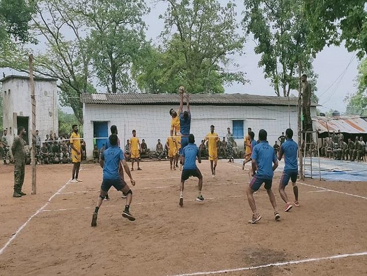 जवानों के लिए यहां खेल गतिविधियों का आयोजन भी किया गया था।