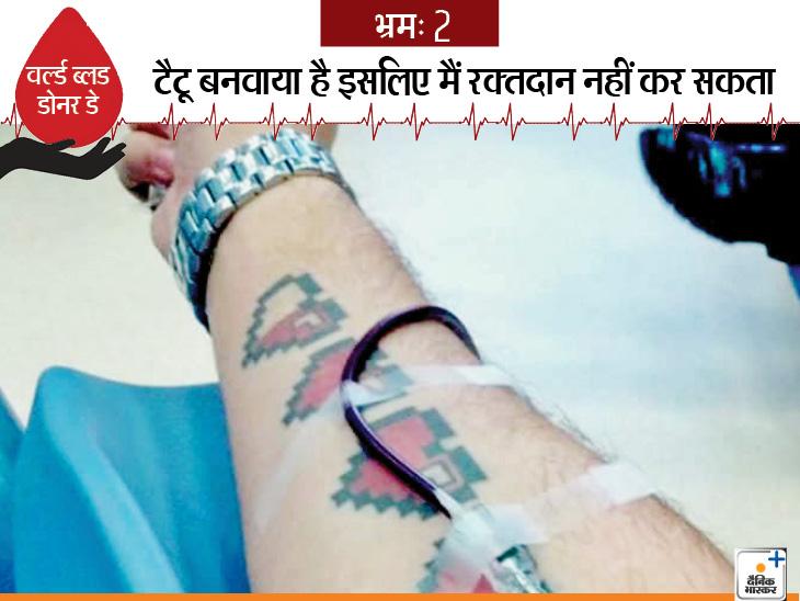 टैटू बनवा रखा है या शरीर का कोई हिस्सा छिदवाया है तो रक्तदान कर सकते हैं। जब टैटू बनवाएं और अंग छिदवाएं तो कुछ घंटे के बाद रक्तदान कर सकते हैं। विश्व स्वास्थ्य संगठन की गाइडलाइन्स के अनुसार, टैटू बनवाने के 6 महीने के बाद और अंग छिदवाने के 12 घंटे बाद ही रक्तदान करें।