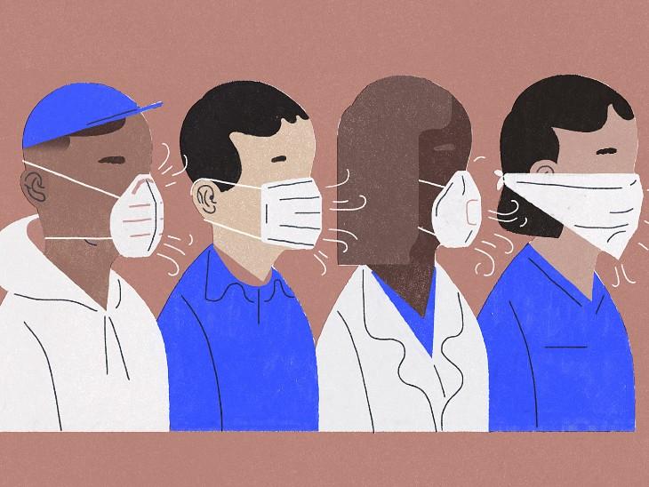 मास्क के साथ सांस लेने का तरीका भी अहम, सिर्फ नाक से सांस लेने से ब्लड प्रेशर और ऑक्सीजन बेहतर होंगे विदेश,International - Dainik Bhaskar